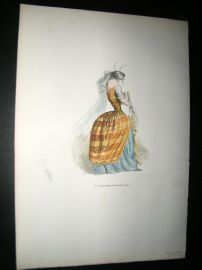 Grandville des Animaux 1842 Hand Col Print. Well dressed Wasp